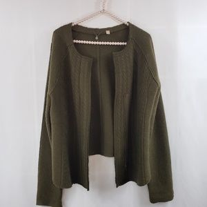 Anthro Knitted & Knotted 100% Wool Sweater Blazer